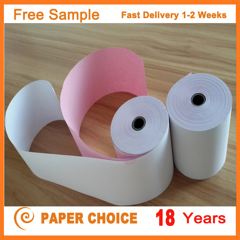 Advanced Quality Fctory Custom Different Color Roll Carbonless 2 Ply NCR Paper