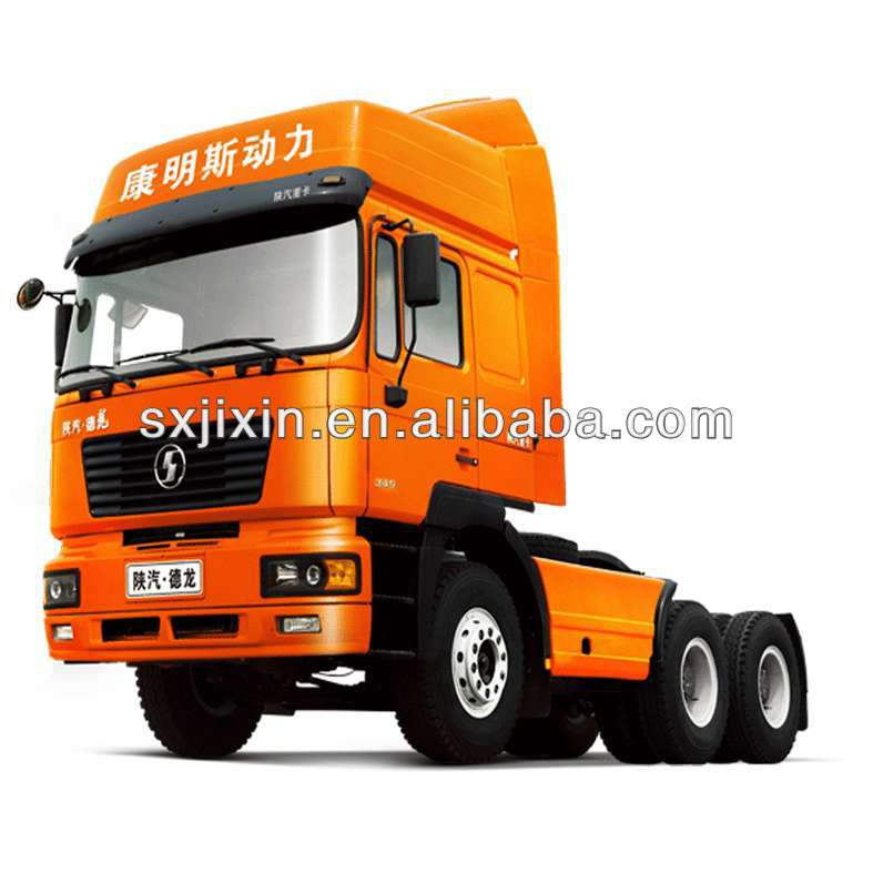 China Shacman 10 wheels all drive 6x6 tractor trailer truck/CUMMINS engine/Euro 4