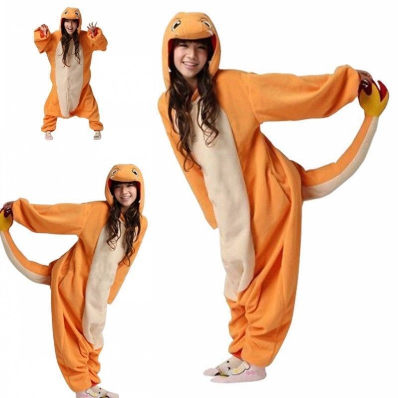 48e744596 Get Quotations · 2015 Winter Costumes Fashion Christmas Party Pajamas  Pyjama Animal Charmander suits Cosplay Adult Fleece Cartoon Onesies