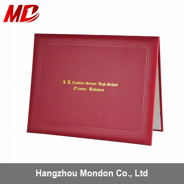 Promotion Sale Graduation Leather Made Diploma Cover Certificate ...