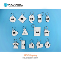 MDF Sublimation Keychain With Different Shapes For Promotional Gift