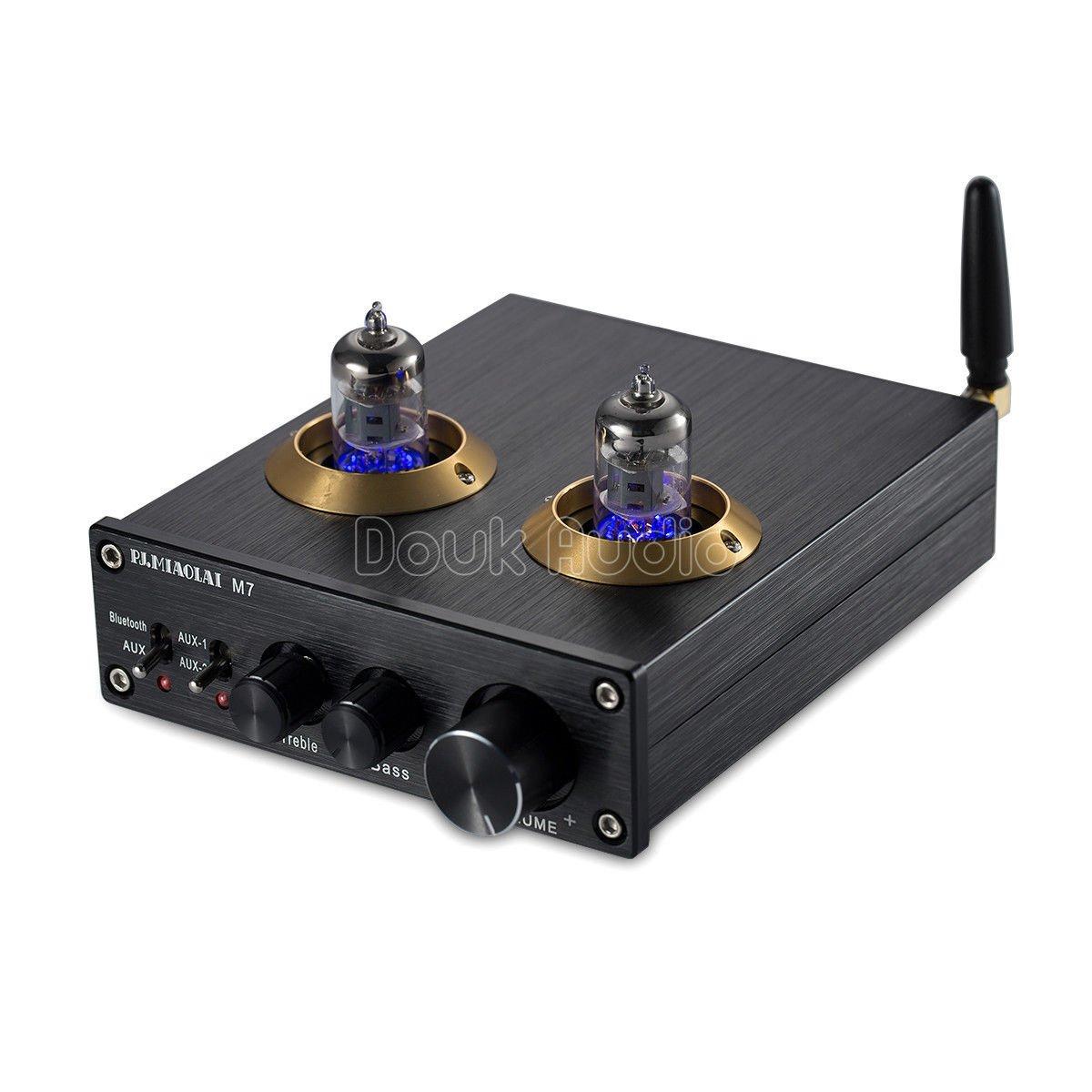 Nobsound Bluetooth HiFi 6J1 Vacuum Tube Preamplifier Stereo PreAmp Digital Treble & Bass Tone Control (Black)