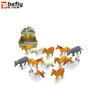 Wholesale Bulk plastic farm animal toy set for kids