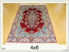 4X6Ft Nanyang silk hand knotted persian area rugs wholesale