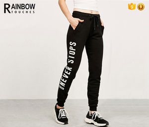Wholesale Custom Cotton Fleece Sweatpants Alphalete Jogger Pants Women