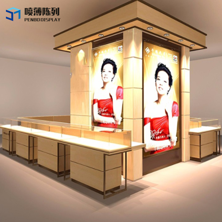 2015 Hot Sales Oem Production Jewelry Display Showcase