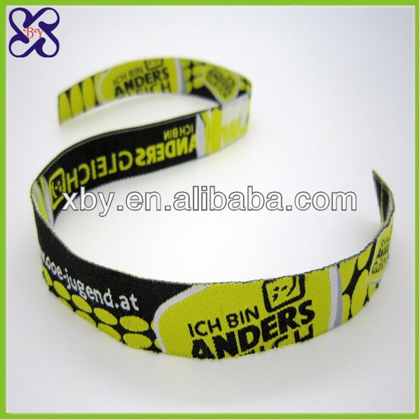 2015 Fashion custom woven ribbon manufacturer