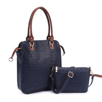 fashion elegant style classical women handbag custom women vintage handbag good price women handbag set 2 pieces
