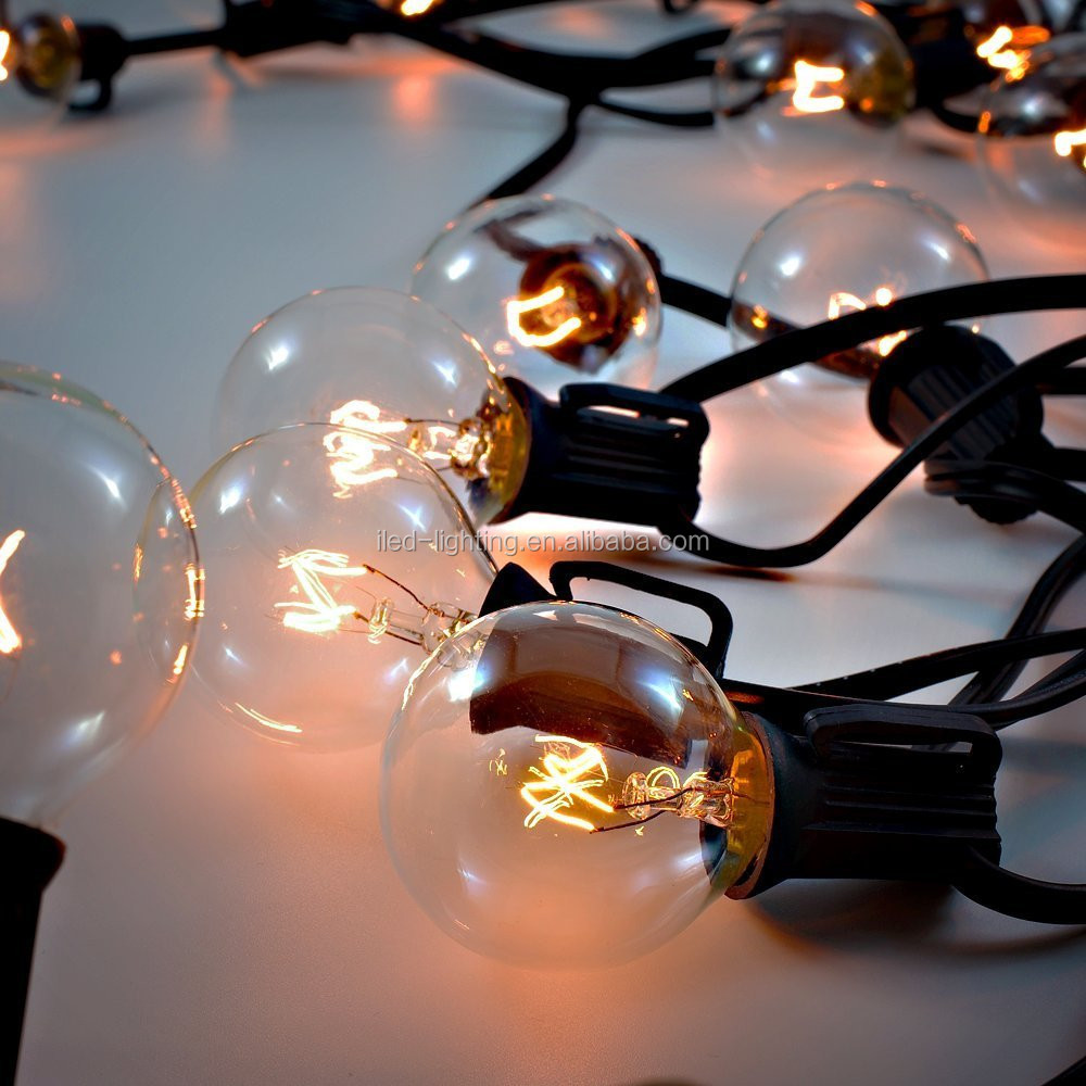 wholesale distributor Enery saving G40 globe Replacement Bulbs string lights for Christmas New Year