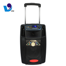 8 Inch Outdoor home Rechargeable DJ Speaker Portable Trolley wireless Speakers