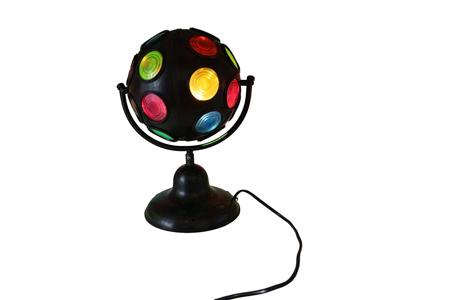 Get Quotations Deliawinterfel Party 6 Inch Spinning Rotating Multi Coloured Led Disco Ball Black Kids Light Lamp
