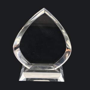 Personalized crystal glass trophy crafts cheap custom-made high-grade awards gifts with your logo