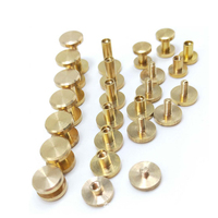 OEM Slotted Brass Chicago Book Binding Screws for Leather belt,leather bag,wallet, book binding