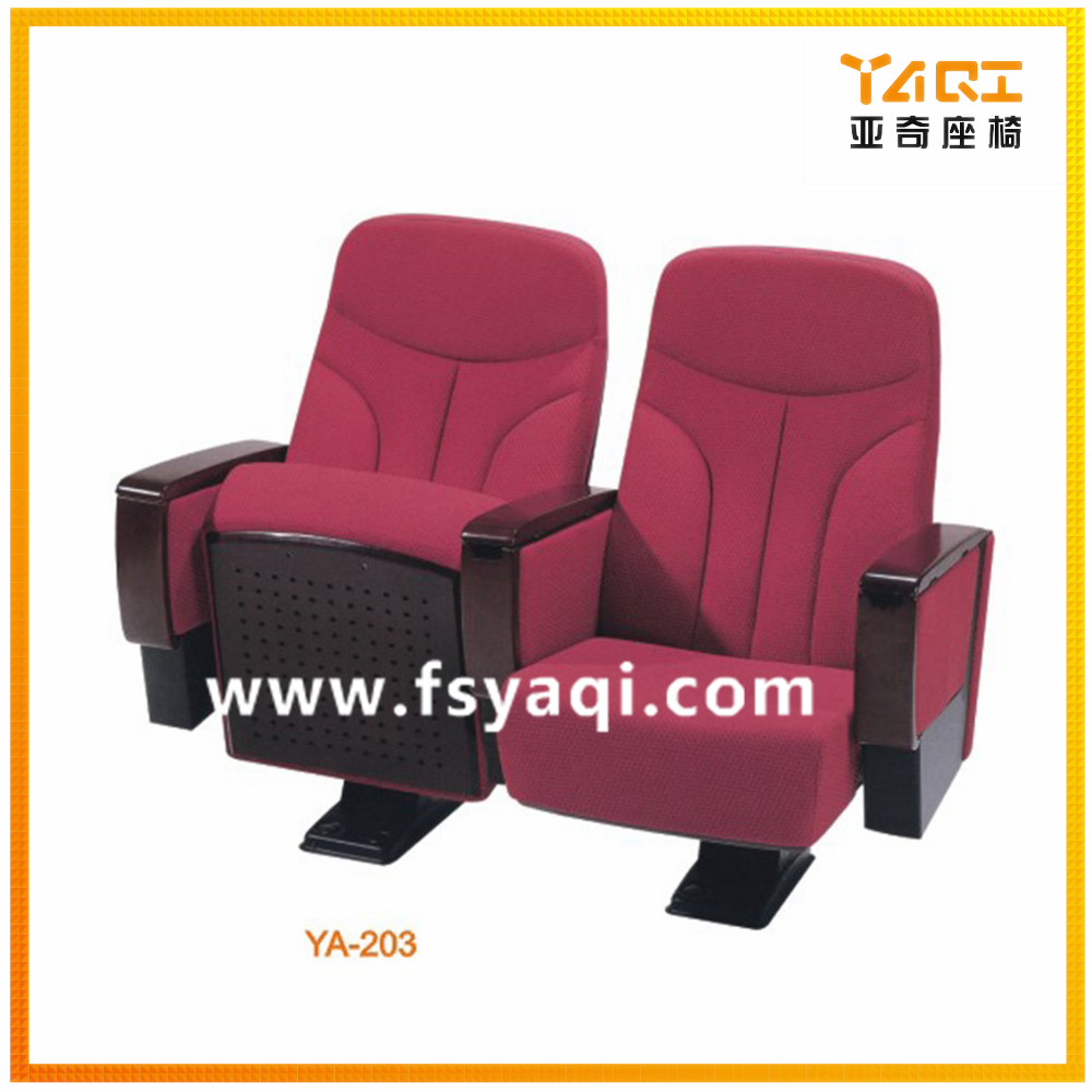 Theater auditorium chairs with writing table (YA-203)