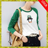 green long sleeve lady t-shirt manufacture t-shirt-wholesale-china VOWWT7350