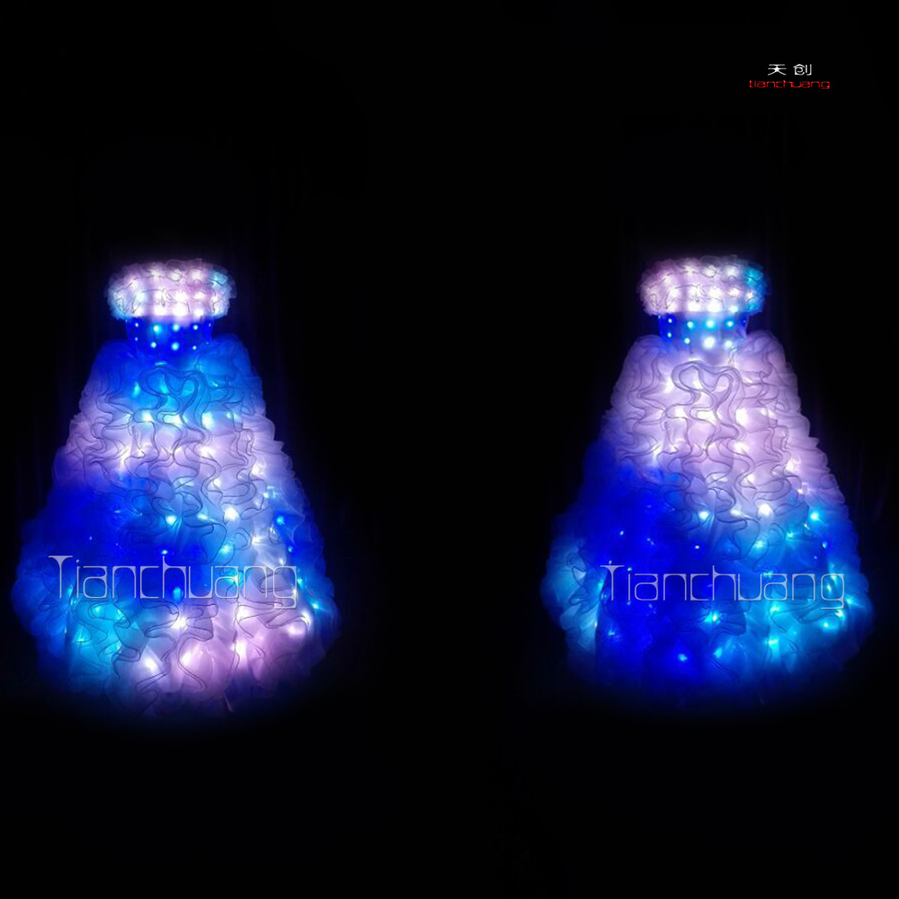 led light prom wedding dress