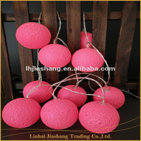 10L LED String Light Christmas Light With Decoration Pink Cotton Ball