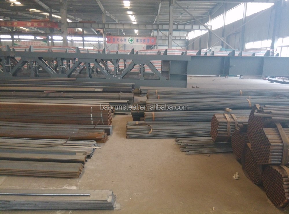 Qingdao Baorun export Prefabricated Light Steel Structure Warehouse Drawings, Steel Warehouse