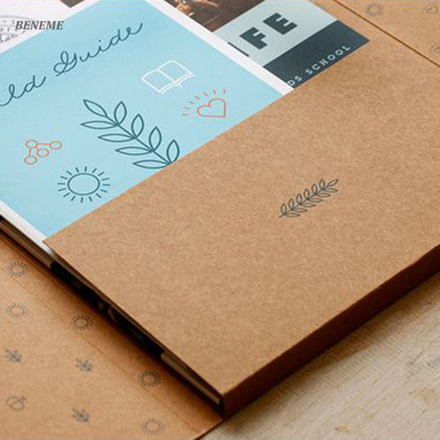 High Quality Fancy Custom 2 Pocket Kraft Paper File Folders Design