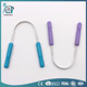 Two round pp handles Stainless steel tongue scrapper