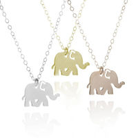 Custom Name Necklace Stainless Steel Animal Jewelry Lucky Elephant Necklace