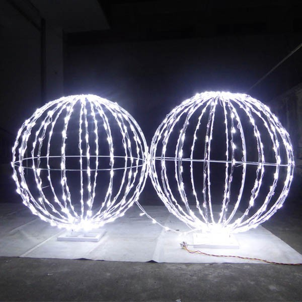 Foldable Led Christmas Ball For Outdoor Decoration