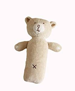 Hug Me Bear Squeaky Rattle by Natures Purest