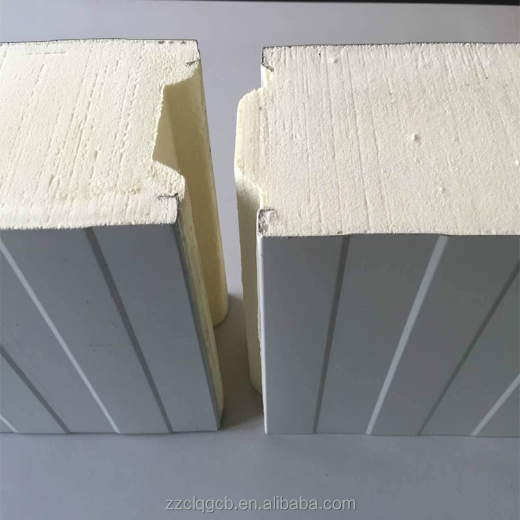 Heat insulation pu panels/sip polyurethane panel sandwich for prefab house
