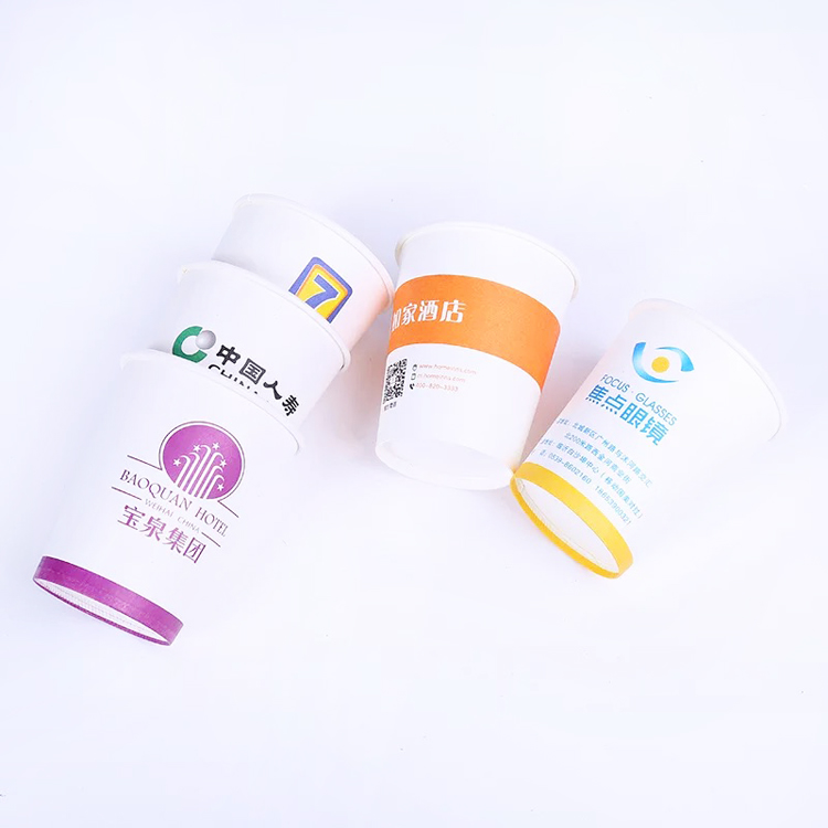 Wholesale Bulk Cheap promotional customized logo printed paper cup