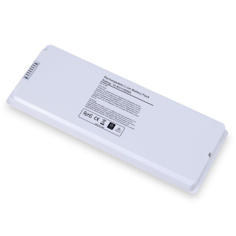 "Omtrik 10.8V 59WH A1185 Battery for Apple MacBook 13"" A1181 MA561G/A MA561LL/A MA566 MA566FE/A MA566G/A MA566J/A White"