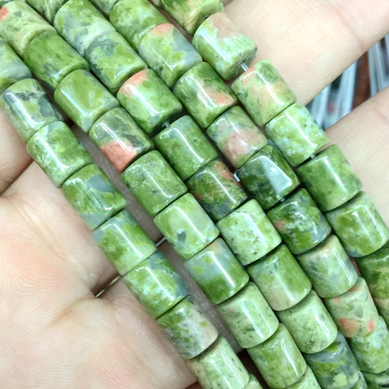 Natural Stone Beads String 6x7 mm tube cylinder cube bead For DIY Making Jewelry Supplies