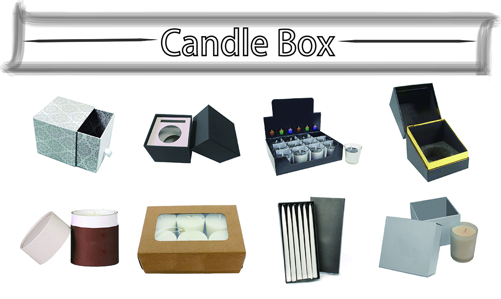 Taper candle packaging boxes