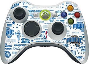 NBA Orlando Magic Xbox 360 Wireless Controller Skin - Orlando Magic Historic Blast Vinyl Decal Skin For Your Xbox 360 Wireless Controller