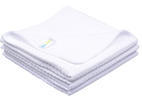 Sunland White Waffle Weave Microfiber Kitchen Cleaning Cloth Towel