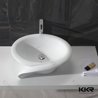 Above Counter Installation Type and Composite stone acrylic bathroom sinks