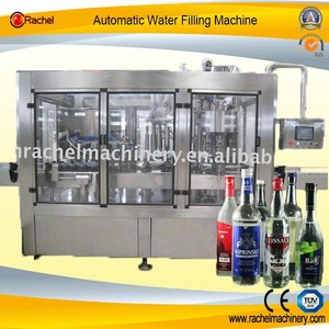 Absolut Vodka Glass Bottle Rising Filling Capping Machine