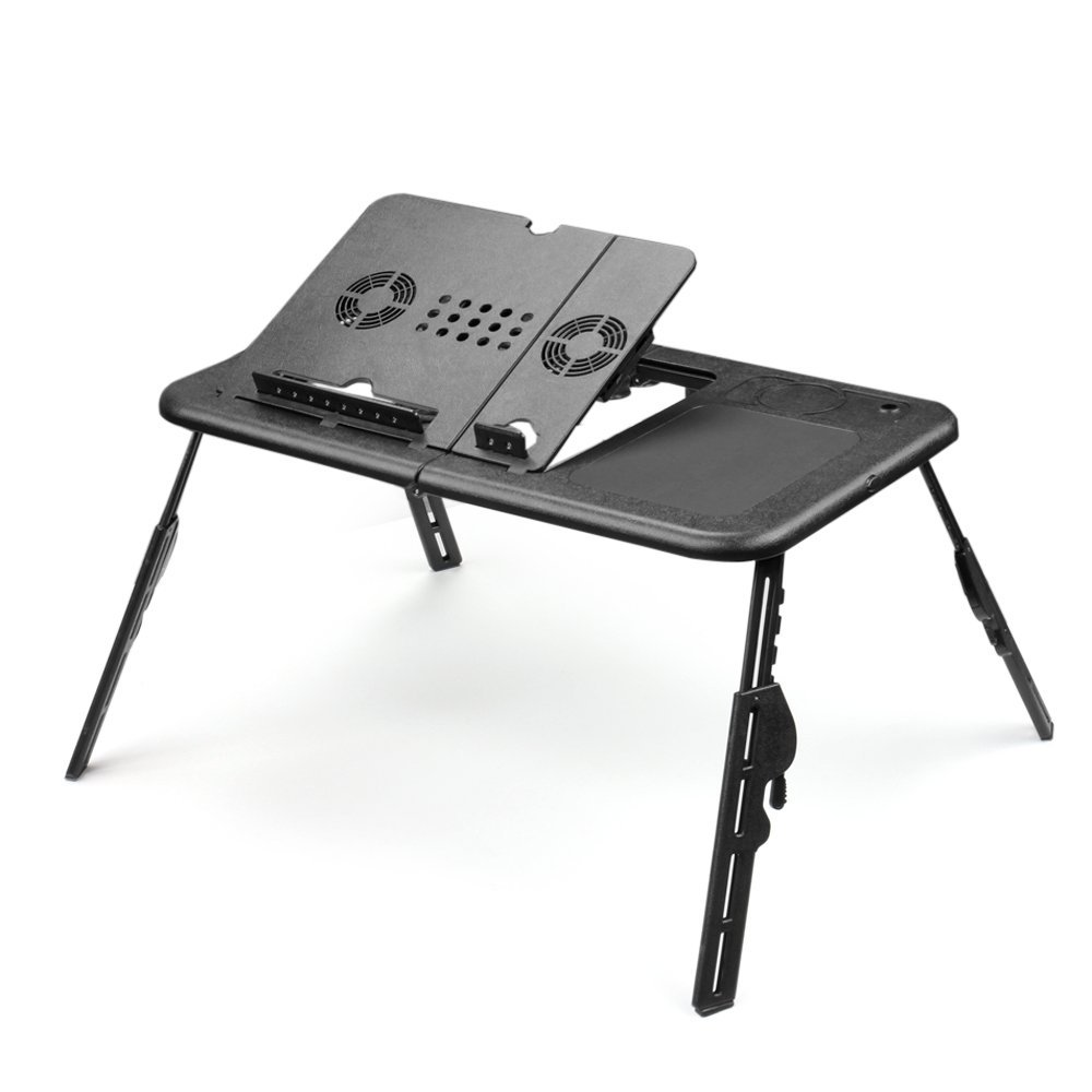 foldable office table. Get Quotations · Flexzion Folding Laptop Desk Adjustable USB Notebook PC Table Stand Workstation Flexible With 2 Cooling Fans Foldable Office L