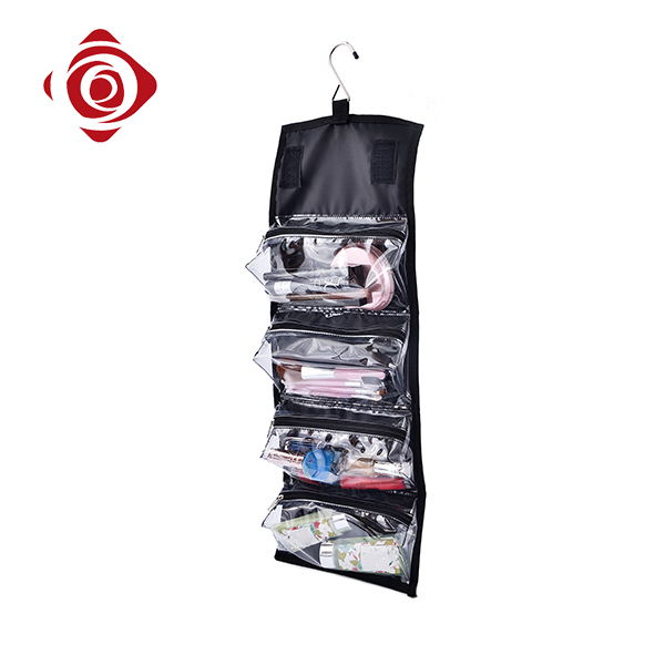 Custom polyester travel men cosmetic wash hanging toiletry bag