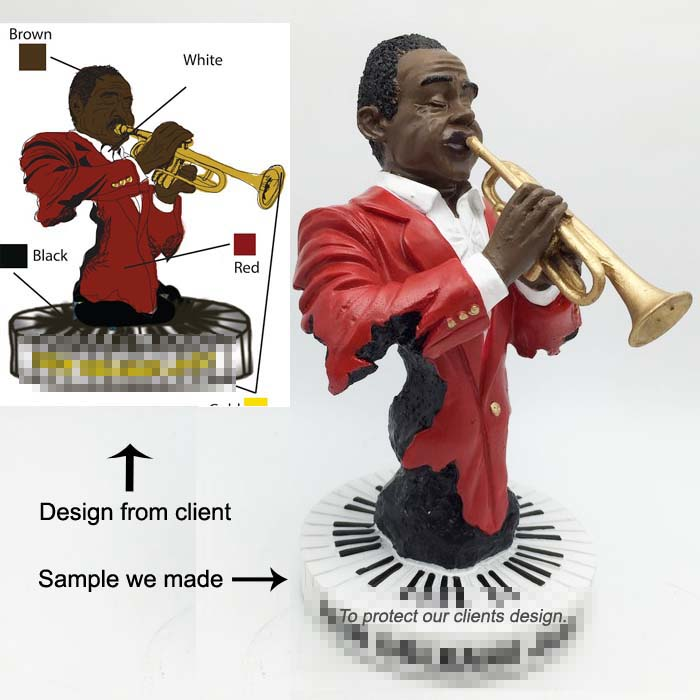 Costumed Jazz Resin figure craft high quality