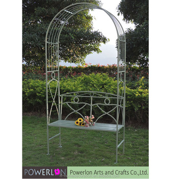 Enjoyable Antique Green Wrought Iron Garden Arches With Bench Buy Garden Arch With Bench Metal Garden Arch Garden Flower Arch Product On Alibaba Com Squirreltailoven Fun Painted Chair Ideas Images Squirreltailovenorg