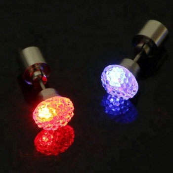Led Grow Up Lighting Flashing Earrings For Men Boys