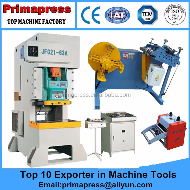 Low cost 63T power press/punching machine for washing machine fabrication