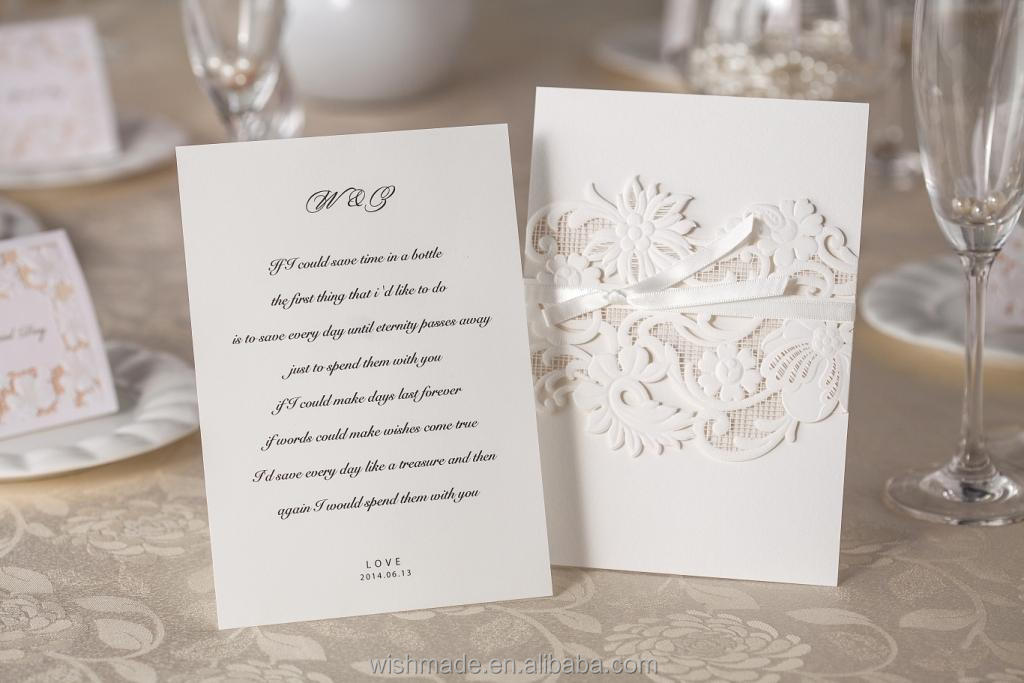 2014 Wedding Invitation Card Design with Lined Envelope WM203 ...