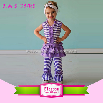 2017 Little Girls Boutique Remakes Clothing Girls Back To School Outfits Girls Summer Outfits With Matching Headband Buy Children Back To School