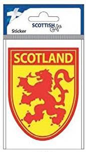 stickyrico1 Scottish Gifts - Scottish Car Sticker - Scotland - Lion Rampant - Shield - UK Gifts