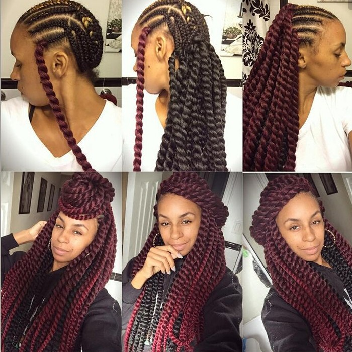 Braid Hair Synthetic Different Color Kinky Marley Twists Braiding Hair ...