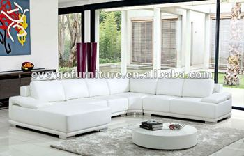 u shaped white leather sofa set design corner furniture salon leather
