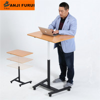 height adjustable computer desk with steel frame