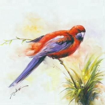 Original Birds Oil Painting Animal Art Painting On Canvas Buy Art