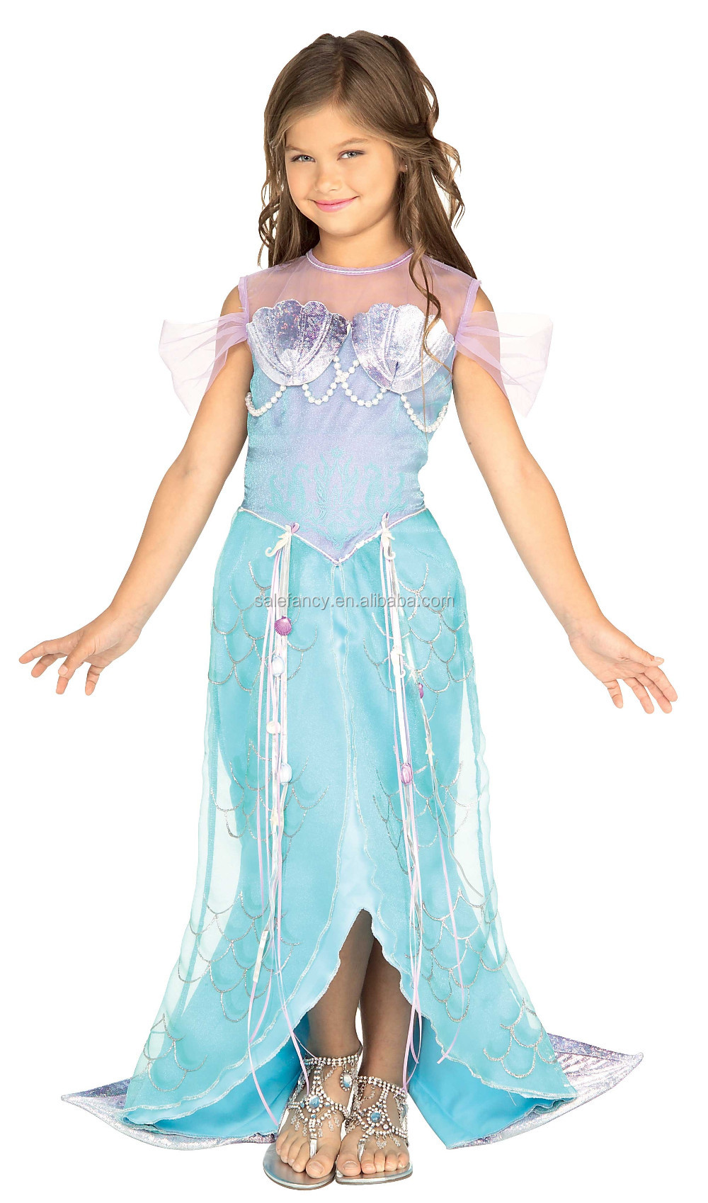 Girls Party Dresses Cheap Green Feather Witch Child Costume Qhgc ...